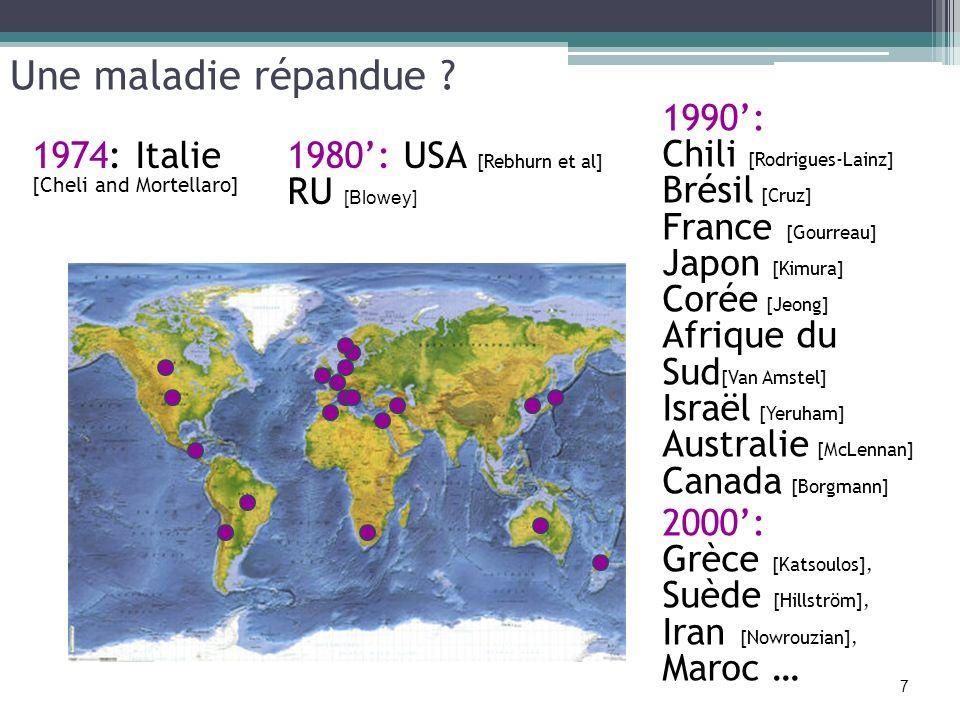 Une maladie répandue 1990': Chili [Rodrigues-Lainz] Brésil [Cruz]